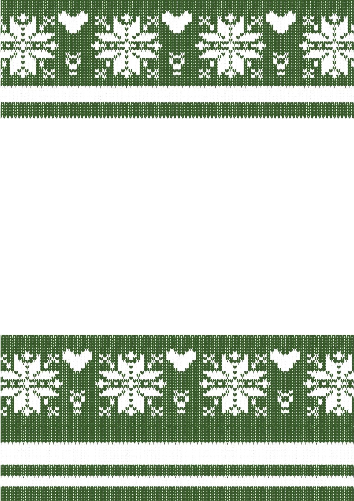 グリーン(緑)のニット素材のフレーム