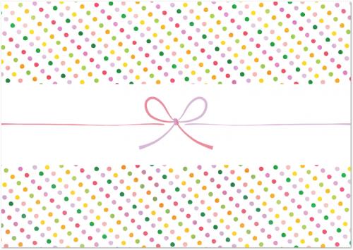 かわいい!カラフルな小さなドット柄のカジュアル「のし紙」