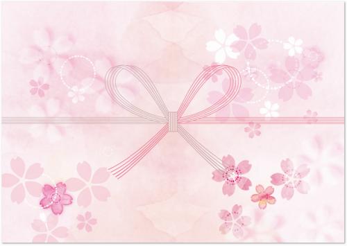 淡くキレイな桜柄ののし紙
