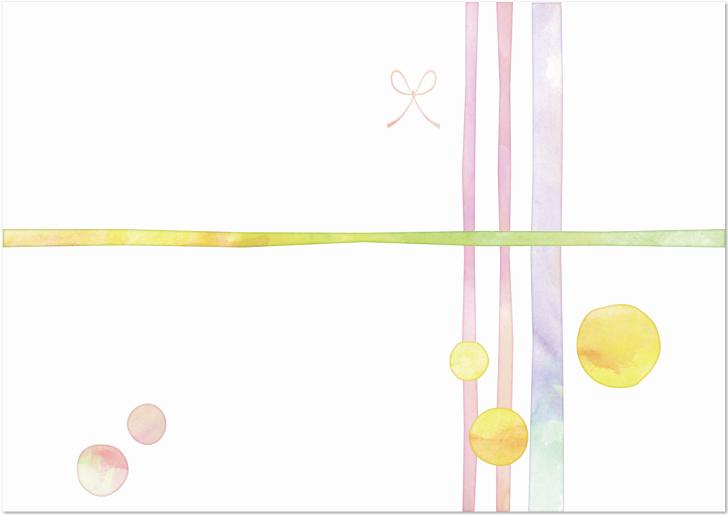 淡い色を使った水彩風のキレイなのし紙