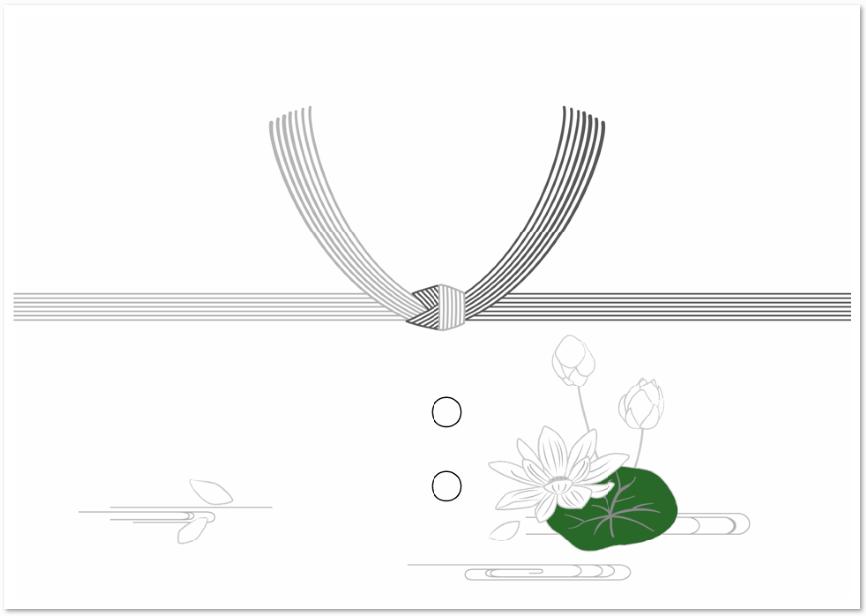 仏事に結び切りで作った水引のシンプルな「のし紙」