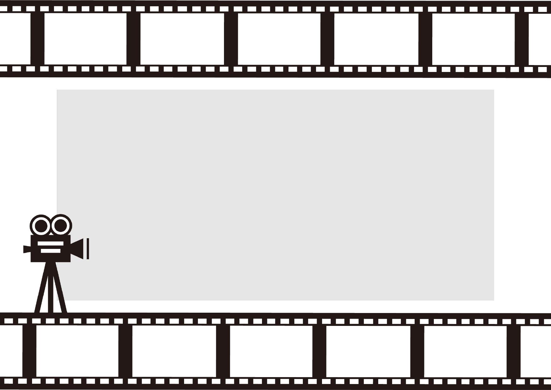 モノクロ(白黒)映画フィルムのフレーム