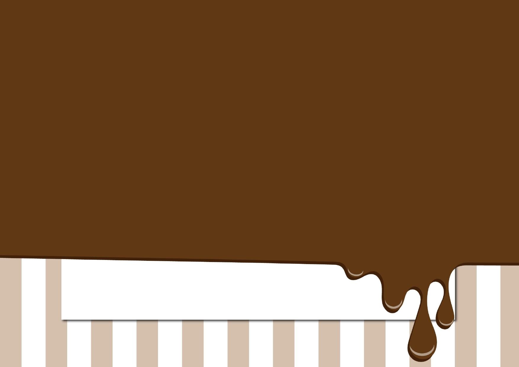 チョコレートソースのフレーム
