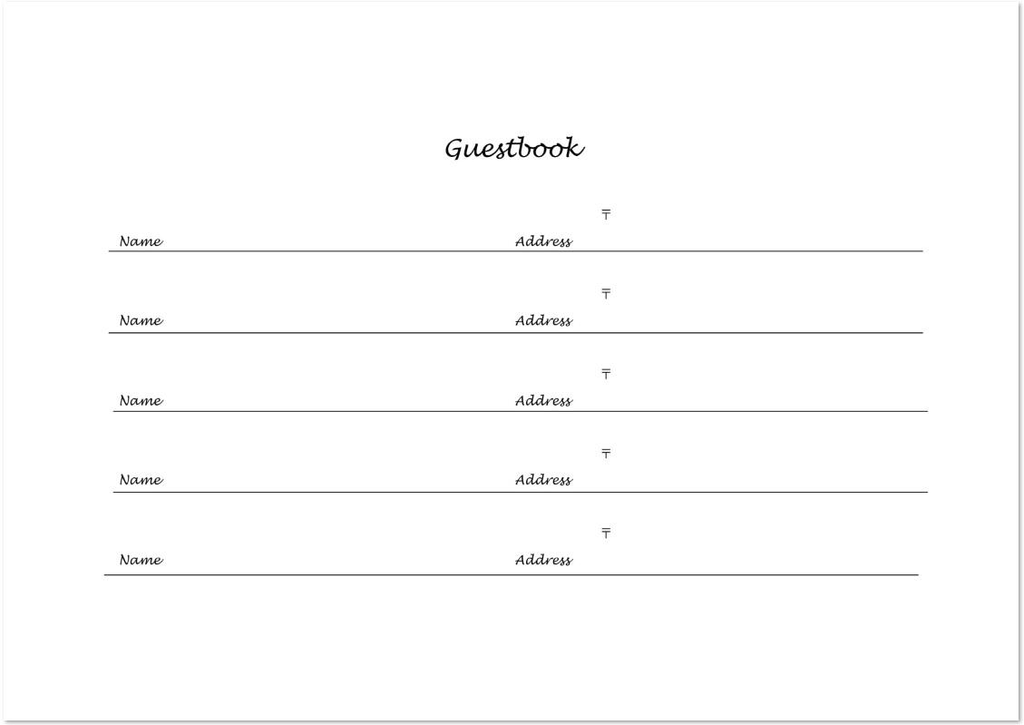 シンプルなのでビジネスで使いやすい芳名帳がオススメ