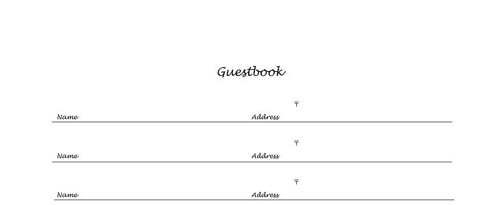 オリジナル感を出す事も可能なシンプルな芳名帳デザイン
