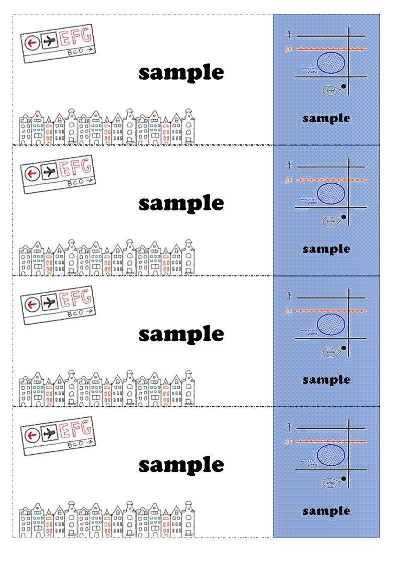 チケット「Excel・word・pdf・A4・4枚」おしゃれなデザイン