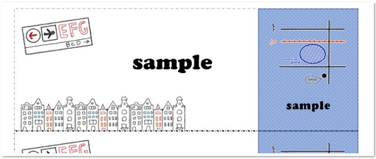 チケット Excel Word Pdf 4枚 おしゃれ 無料ダウンロード かわいい 雛形 テンプレート素材