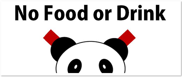 飲食物 持ち込み 禁止 張り紙 かわいい テンプレート 英語 日本語